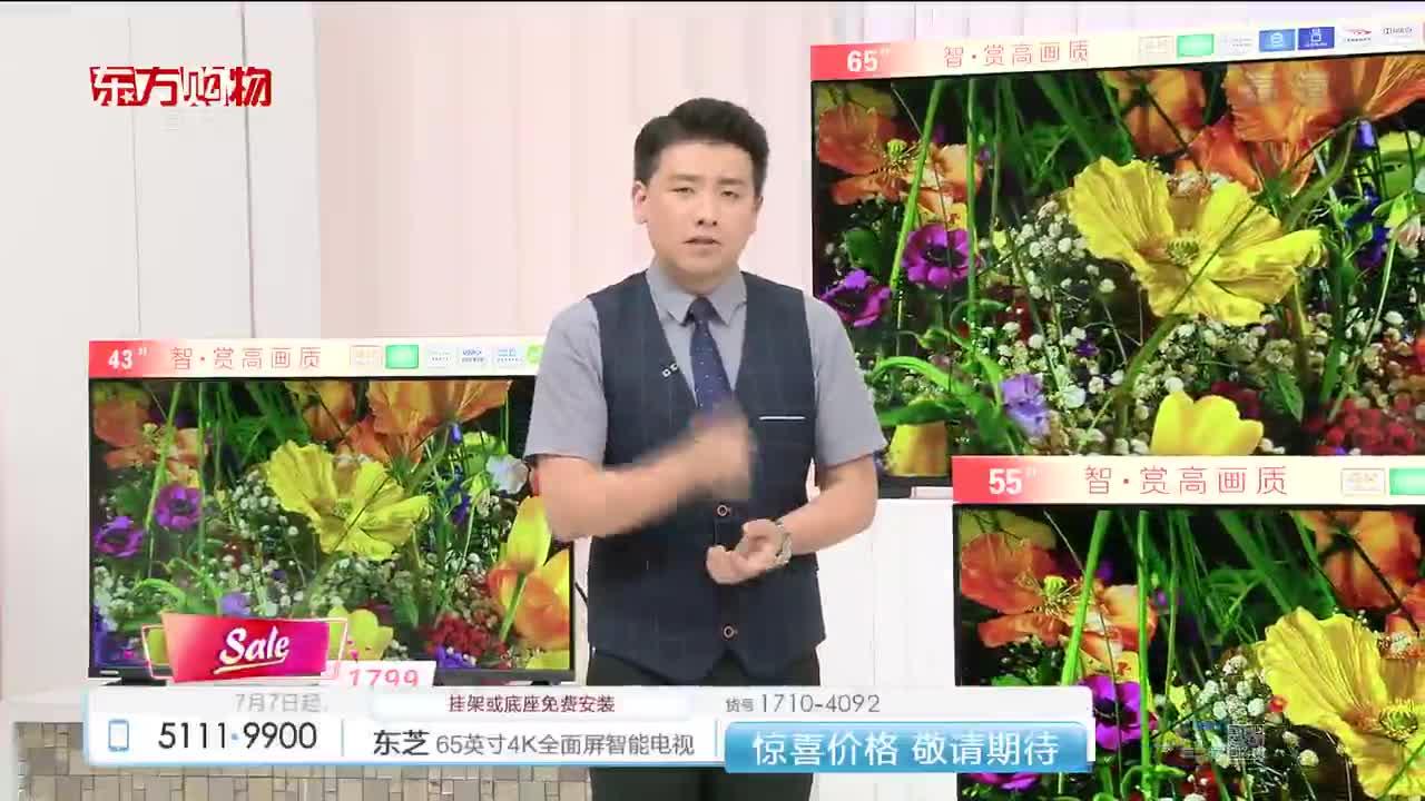 东芝周末爆杀8.2,[周末爆杀]东芝(TOSHIBA) 43英寸4K超高清全面屏AI语音智能液晶电视43U5900C